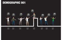 Demografiskt infographic Arkivbilder