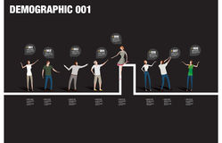 Demographic infographic Stock Images