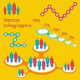 Demographic infographic for presentation. Vector illustration of demographic infographic for presentation Stock Photo