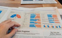 Demographic infographics of elections in US Stock Image