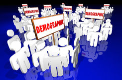 Demographic Niche Target Market Groups Community. 3d Signs Royalty Free Stock Photos