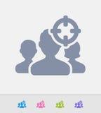Demographics apuntado - iconos del granito libre illustration