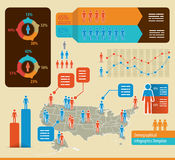 Demographics infochart Stock Images