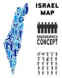 Demographics Israel Map stock illustratie