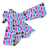 Demographics Jordan Map ilustración del vector