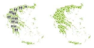 Demographics y Flora Greece Map stock de ilustración