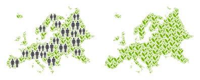 Demographics y mapa floral de Europa libre illustration