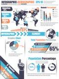 Demographisches Elementdiagramm und -graphik Infographic Stockbild