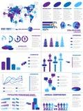 Demographisches Elementdiagramm und -graphik Infographic Stockfoto