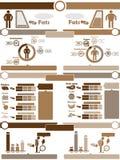 Demographisches Elementdiagramm und -graphik Infographic Lizenzfreie Stockfotos