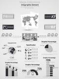 Demographisches Elementdiagramm und -graphik Infographic Stockfotografie