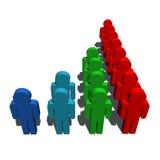 Demography population symbol. 3d  illustration of demography symbol Royalty Free Stock Image