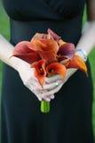 Demoiselle d'honneur avec le bouquet Image libre de droits