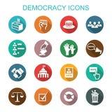 Demokracja cienia długie ikony Zdjęcia Royalty Free