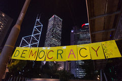 Demokracja sztandar Zdjęcie Royalty Free