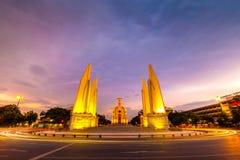 Demokracja zabytek w zmierzchu, Bangkok, Tajlandia Zdjęcia Stock