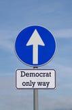 Demokrat den enda vägen inför framtiden Arkivbilder