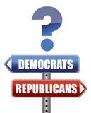demokrata ilustracyjni pytania republikanie ilustracji