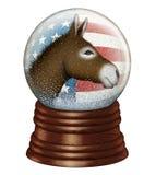 Demokrata śniegu kula ziemska Zdjęcie Stock