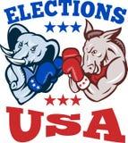 Demokrata Osła Republikański Słonia Maskotki USA Obrazy Royalty Free