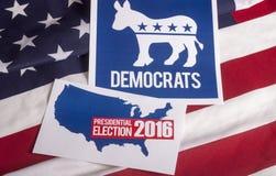 Demokrata wybory flaga amerykańska i głosowanie Obrazy Stock