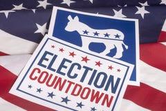Demokrata wybory głosowania flaga amerykańska i odliczanie Obraz Stock