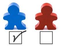 demokraten röstar Royaltyfri Foto