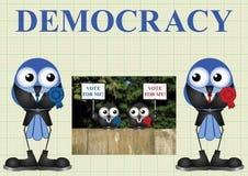 Demokratie mit Politikern lizenzfreie abbildung