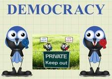 Demokratie mit Politikern vektor abbildung