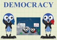 Demokratie mit Politikern stock abbildung