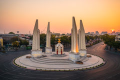 Demokratie-Monument an der Dämmerung Lizenzfreies Stockfoto