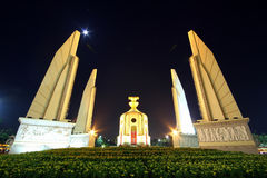 Demokratimonument i bangkok, Thailand Arkivbild