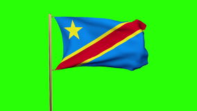 Demokratische Republik Kongo fahnenschwenkend herein stock video footage