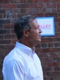 Demokratischer Präsidentschaftskandidat Martin O'Malley spricht in Des Moines, Iowa, am 26. September 2015 Lizenzfreie Stockbilder