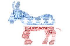 Demokratisk debatt - åsnaordmoln Stock Illustrationer