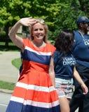 Demokratisk kandidat Debbie Dingell på Ypsilantien, MI 4th av Royaltyfria Foton