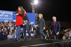 Demokratisk presidentkandidat Hillary Clinton Campaigns In Las Vegas, Nevada Fotografering för Bildbyråer