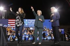 Demokratisk presidentkandidat Hillary Clinton Campaigns In Las Vegas, Nevada Royaltyfri Bild