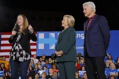 Demokratisk presidentkandidat Hillary Clinton Campaigns In Las Vegas, Nevada Arkivfoton