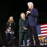 Demokratisk presidentkandidat Hillary Clinton Campaigns In Las Vegas, Nevada Arkivbilder