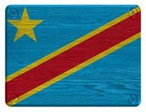 Demokratisk republik av Kongoflaggan Fotografering för Bildbyråer