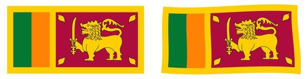 Demokratisk socialistRepubliken Sri Lanka flagga Enkelt och slig vektor illustrationer