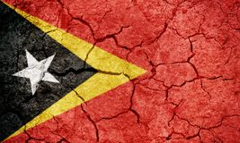 Demokratyczna republika Timor Wschodni flaga Obraz Stock