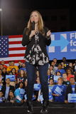 Demokratyczny kandyday na prezydenta Hillary Clinton Prowadzi kampanię W Las Vegas, Nevada Zdjęcie Stock