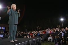 Demokratyczny kandyday na prezydenta Hillary Clinton Prowadzi kampanię W Las Vegas, Nevada Zdjęcia Stock