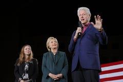Demokratyczny kandyday na prezydenta Hillary Clinton Prowadzi kampanię W Las Vegas, Nevada Obrazy Royalty Free