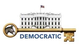 Demokratyczny klucz Biały dom Obrazy Stock