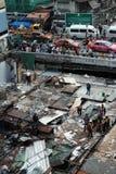 Demolera järnbromarknaden i Bangkok, Thailand På 28 Octob Royaltyfri Bild