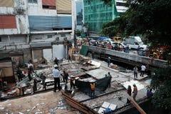 Demolera järnbromarknaden i Bangkok, Thailand På 28 Octob Royaltyfria Bilder
