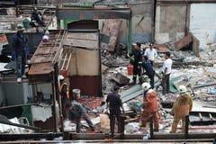 Demolera järnbromarknaden i Bangkok, Thailand På 28 Octob Arkivfoto